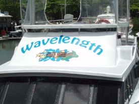 Wavelength Boat Decal